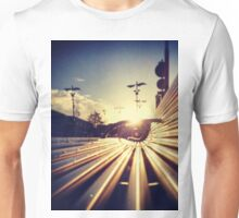 Good Morning Sunderland - Sunrise through a Bench Unisex T-Shirt