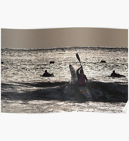 Kayaker at Lorne 2013 Poster