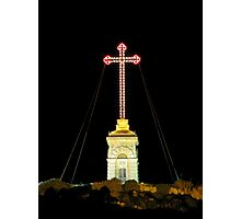 The Cross At The Top Of The Hill Photographic Print