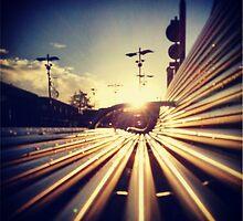 Good Morning Sunderland - Sunrise through a Bench by jaybeijaflor