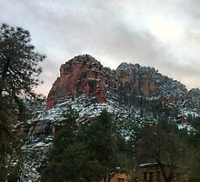 Mountain over Slide Rock by Anelle121314