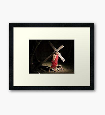 Jesus Carrying Tthe Cross Framed Print