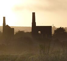 Dark Cornwall - Abandoned Mills at Sunset by nicktopus