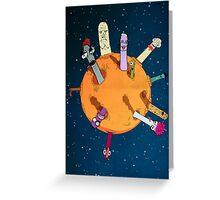 Rotten moon Greeting Card