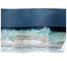 Stormy Maroubra Beach Poster