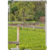 Broken fence on a rural property iPad Case/Skin