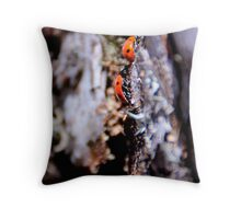 Ladybugs Throw Pillow