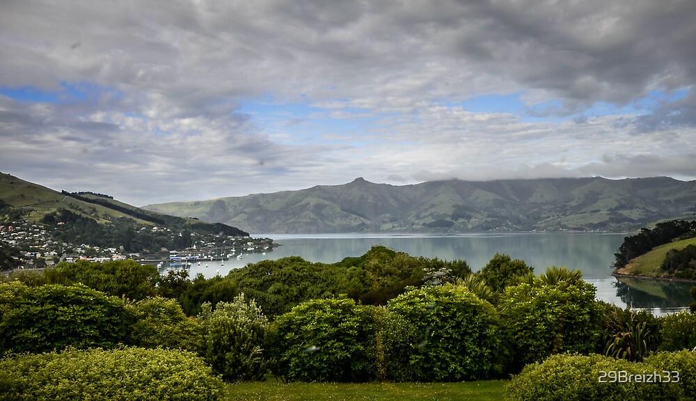 View on Akaroa village New-Zealand by 29Breizh33