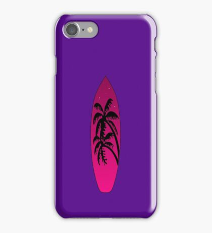 Surfboard Palm Trees (Pink) iPhone Case/Skin