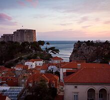 Dubrovnik Castle at Sunset by Philip Kearney