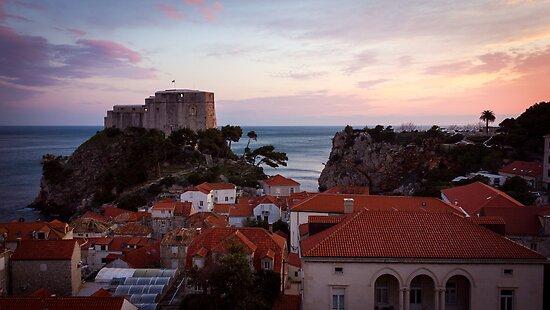 Dubrovnik Castle at Sunset by Philip Kearney