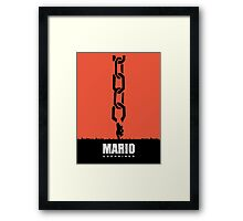 Mario Unchained Framed Print