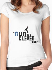 Clever Boy Women's Fitted Scoop T-Shirt