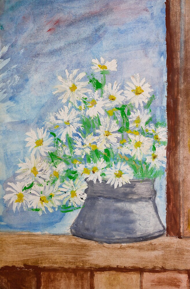 Bouquet of daisies painting by kirilart