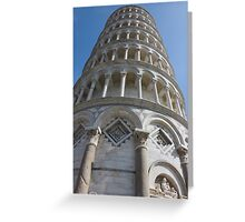 Leaning Tower in Pisa angle shot Greeting Card