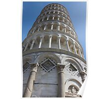 Leaning Tower in Pisa angle shot Poster
