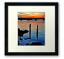 Long Beach, NY     Railroad Sunset Framed Print