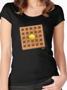 ...and in the Morning, I'm making Waffles! Women's Fitted Scoop T-Shirt