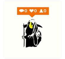 Deaths Social Media Art Print
