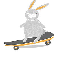 Skater Bunny by Good Natured Beast