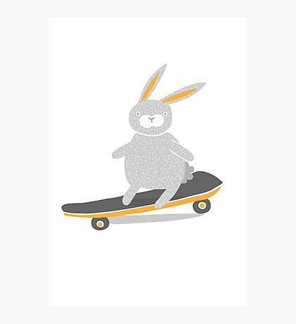Skater Bunny Photographic Print