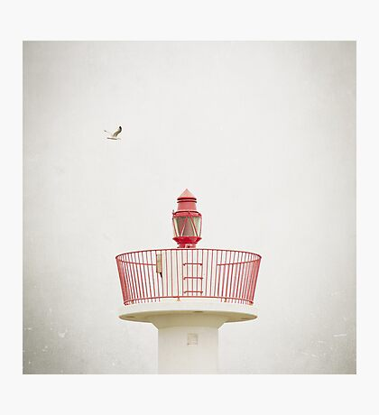 Red Lighthouse Photographic Print