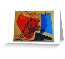 Running Bull Greeting Card