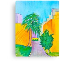 Downtown Los Angels Alleyway Canvas Print
