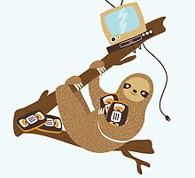VHS Sloth by Good Natured Beast