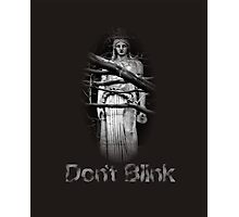 Don't Blink Weeping Angel  Photographic Print