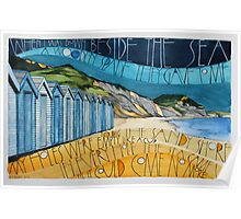 Charmouth Beach (looking to Golden Cap) Poster