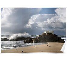 Vila do Conde beach in Portugal Poster