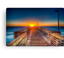Sunrise on the Fishing Pier Canvas Print