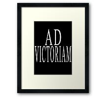 Ad Victoriam (WHT) Framed Print