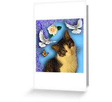 CAT POSTER 1 SQUARE Greeting Card