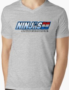 Ninjas. Ninjas EVERYWHERE. Mens V-Neck T-Shirt
