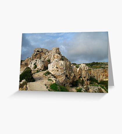 Solid As A Rock Greeting Card