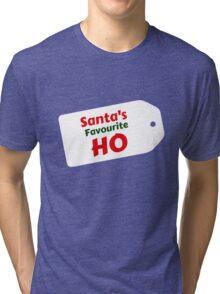 Santa's Favourite Ho Tri-blend T-Shirt