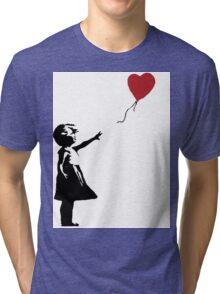 Banksy - Girl With Balloon Tri-blend T-Shirt