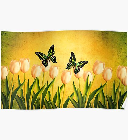 In the Butterfly Garden Poster