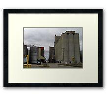 Cement Silos Framed Print