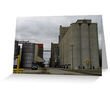 Cement Silos Greeting Card