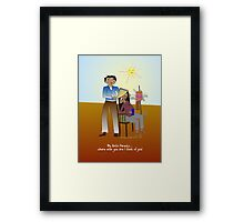 My Birth Parents... where ever you are I think of you! Framed Print