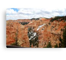 Snow on Bryce Canyon National Park,Utah,USA Canvas Print