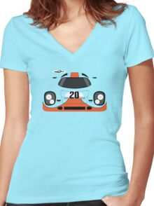 917 #20 Racing Livery Women's Fitted V-Neck T-Shirt