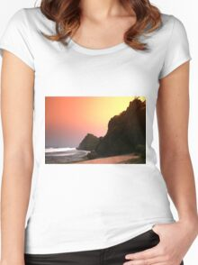 Colorful sunset  Women's Fitted Scoop T-Shirt