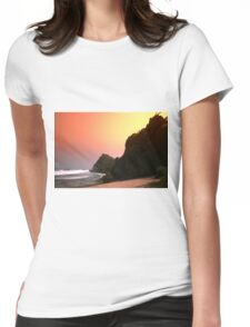 Colorful sunset  Womens Fitted T-Shirt