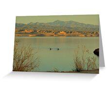 Lake Mead At Sunset Greeting Card