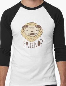 Friendly Beast Men's Baseball ¾ T-Shirt