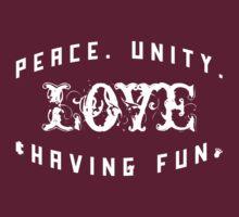 Peace. Unity. Love & Having Fun [Wht]   Zulu Nation Shirt   Fresh Threads T-Shirt